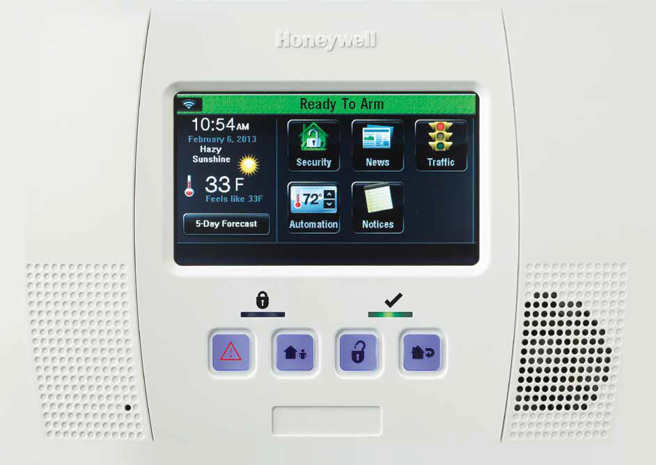 Honeywell Lynx Touch L5200 Zions Security Alarms ADT Authorized