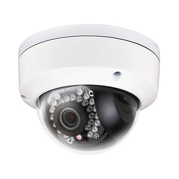 3mp ir dome ip camera with 4mm fixed lens zions security. Black Bedroom Furniture Sets. Home Design Ideas