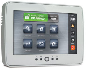 DSC Powerseries Touchscreen Keypad