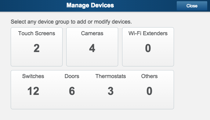 ADT Pulse Manage Devices