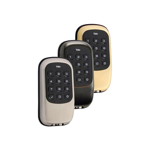 Keyless deadbolt deadbolt lock all z wave door knob for Adt z wave door lock