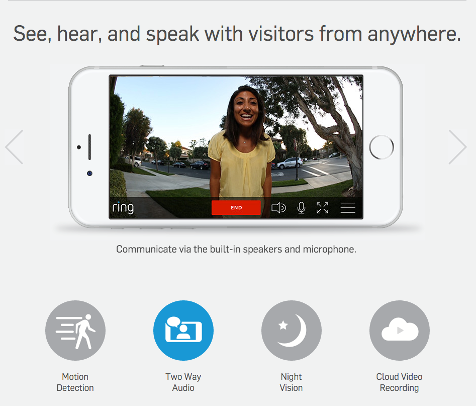 Ring Doorbell works with ADT Pulse