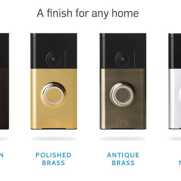 ring doorbell colors