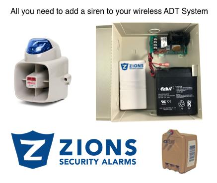 ADT Wireless Outdoor Siren